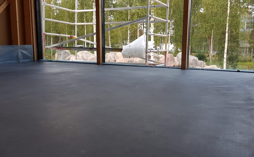 Kaikki vaiheet kuivasirotelattian (betonilattia, elämyslattia) valmistamiseen